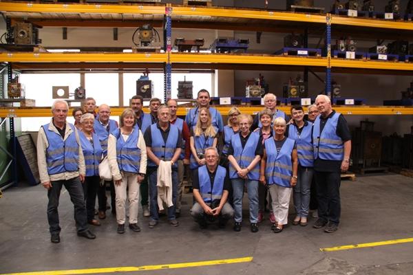 Gruppenfoto in der Firma Pollmann