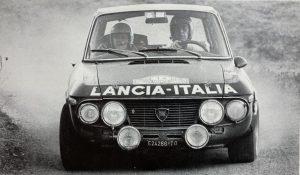 Sandro Munari, Fulvia 1,6 HF – Quelle: Brägger, Die Geschichte der Rallye Monte Carlo, Edition Scriptum 1988