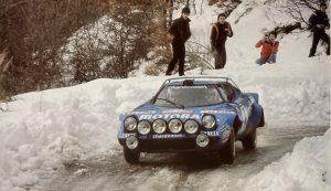 Bernard Darniche, Stratos HF – Quelle: Brägger, Die Geschichte der Rallye Monte Carlo, Edition Scriptum 1988