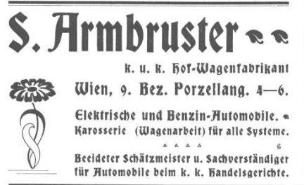 Werbeanzeige von S. Armbruster
