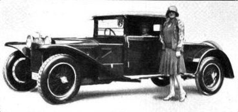 Gräfin Maria Wenkheim, Lancia-Kabriolett. Karosserie Armbruster